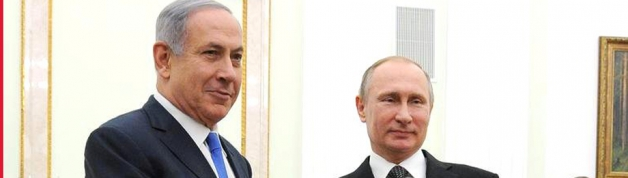 Netanyahu (left) with Putin at their last meeting in Moscow, Russia (credit: the Kremlin)