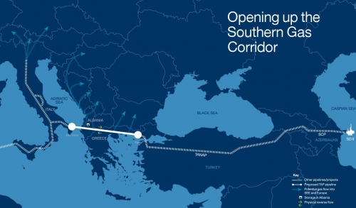 Southern Gas Corridor map
