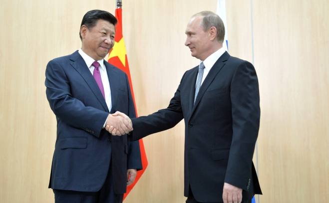 Vladimir Putin and Xi Jinping, BRICS Summit 2015